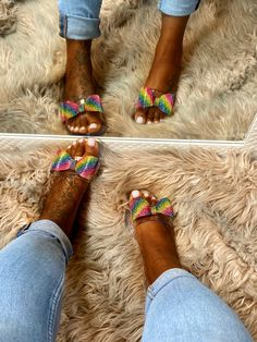 Rainbow House, Cute Slides, Jelly Sandals, Slip On, Casual, Women, Random, Casual Clothes