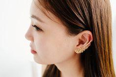 Big wing ear cuff with stud earringJewelryEarringscuff by comejew