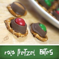 Rolo Pretzel Bites - we are leaving these for Santa, instead of cookies this year.