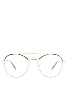 Round-frame metal glasses | Prada Eyewear | MATCHESFASHION.COM