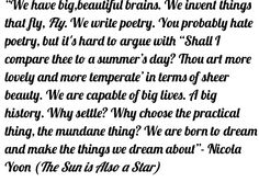 The Sun is Also a Star by Nicola Yoon Quote