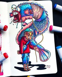 Doodle Art Drawing, Doodle Sketch, Art Drawings Sketches, Cool Drawings, Pencil Drawings, Doddle Art, Character Art, Character Design, Graffiti Doodles