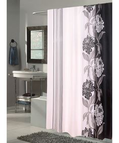 Carnation Home Fashions Chelsea Fabric Shower Curtain - Shower Curtains at Hayneedle