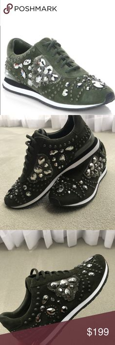 Tory Burch Leather Suede sneakers NEW 9 NEW with box etc suede studded sneakers. Beautiful, just turned out that I need a different size.. Tory Burch Shoes Sneakers