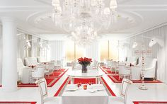 philippe starck designed dining room in the faena, el porteno in buenos aires. more beautiful in person!