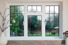 Everest Aluminium Windows are an ideal way to enhance the look of your home. Choose slimline aluminium casement or traditional secondary glazing. Aluminium Windows, Casement Windows, Windows And Doors, Tilt And Turn Windows, Steel Windows, Black Windows, Sash Windows, House Windows, Window Grill Design Modern