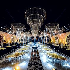 Imagine the look on their faces when they walk into your wedding reception when it looks this EPIC ▪️Photo: ▪️Flowers: ▪️Lighting: Indian Wedding Decorations, Reception Decorations, Wedding Themes, Event Decor, Wedding Designs, Wedding Cakes, Wedding Stage, Wedding Goals, Festa All Black