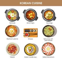 Spicy Recipes, Asian Recipes, Cooking Recipes, Korean Street Food, Korean Food, Korean Cafe, Learn Basic Korean, Korean Noodles, Cute Food Art
