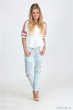 """So stylish and loaded with details to complete that perfect outfit! Go ahead and grab a few. Unless you don't """"like"""" totally cute, super comfortable and goes with everything kind of jeans."""