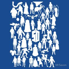 Doctor Who 50 enemy silhouettes
