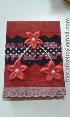 DIY - Caderneta em tecido, detalhes em E.V. A. Presente especial para a amiga carioca @sorayapamplona