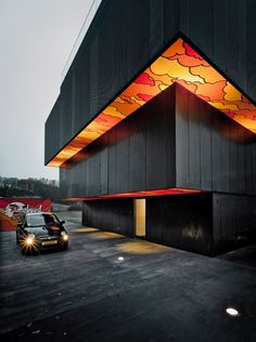 "Architecture and art are entwined to create an intriguing and intimate residential apartment building in Luxembourg. The concept is the work of artist SUMO which is a response to urban landscape in the era of ""post-graffiti"". Architecture Design, Facade Design, Beautiful Architecture, Residential Architecture, Exterior Design, Building Architecture, Architecture Graphics, Chinese Architecture, Architecture Office"