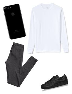 """""""Untitled #10"""" by tamas-erdos on Polyvore featuring adidas, H&M, Lands' End, men's fashion and menswear"""