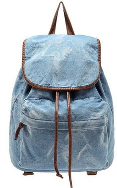 Moda Casual estilo de la universidad de mezclilla lavada luz blue jeans taninos morral del lazo, mochilas escolares, bolsas en Bolsas de la escuela de Maletas y Bolsos en AliExpress.com | Alibaba Group