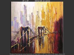 "Bridges painting ""NY Heat Wave"""