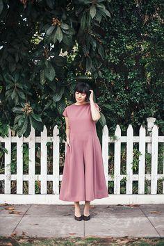 a0b47c20ba4 NEW Dusty Rose Jumpsuit Naomie. Fall Fashion. Loose Jumpsuit. Wide Leg  Jumpsuit.