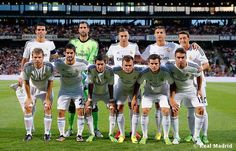 Whites in full glory : Real Madrid team before pre season game against Lyon.  Link : http://football-meets-cricket.blogspot.in/2013/07/in-pics-olympique-de-lyon-2-2-real.html