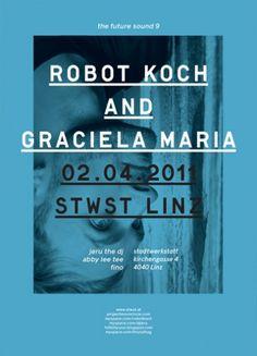 Robot Koch and Graciela Maria poster.