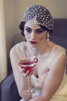 What a beautiful look!  #Great #Gatsby #makeup #hair