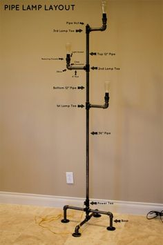Pipe lamp (φωτιστικο δαπεδου)