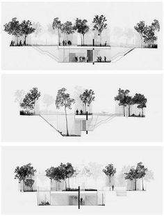 architectural drawing - ARCHITECTURAL SCALE ********************** [Tynan Freeman // Illustrating space as opposed to constructed mass - Section Drawing Architecture, Architecture Visualization, Architecture Board, Architecture Portfolio, Architecture Design, Architecture Background, Amazing Architecture, Coupes Architecture, Architecture Graphics