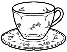 printable tea cup coloring pages - photo#15