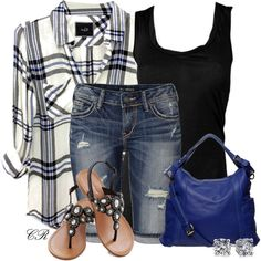 """Plaid  Denim"" by colierollers on Polyvore"