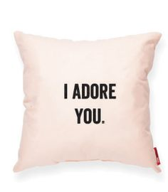 I ADORE YOU Peach Decorative Pillow