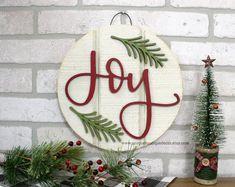 Joy Sign Small Wood Shiplap Sign Rustic Christmas Decor 11 Door Hanger She Christmas Signs, Rustic Christmas, Christmas Diy, Christmas Wreaths, Christmas Ornaments, Christmas Cards, Xmas, Christmas 2019, Handmade Christmas