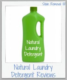 Comprehensive list of natural laundry detergent brands, along with reviews where available, to find the best eco-friendly laundry soap for your family {on Stain Removal 101}