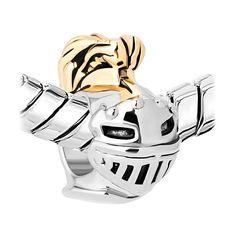 Knight Helmet Charm Bead