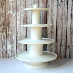 Four Tier White Cupcake Stand