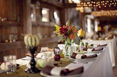 Beautiful fall barn reception