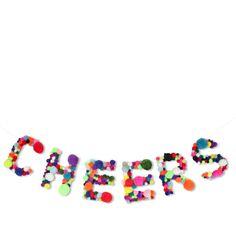 Pom Pom Cheers Sign