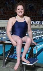 World record swimmer with spina bifida