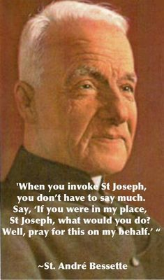 St. André Bessette, pray for us. #SaintOfTheDay