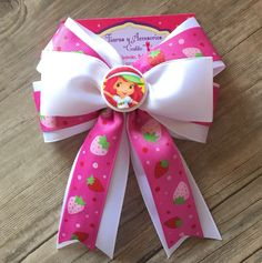 Moño de Rosita Fresita, strawberry shortcake hair bow ✨