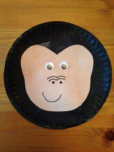 Paper Plate Gorilla Craft - Animal Craft - Zoo Craft - Preschool Craft