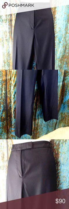 PESERICO Designer Black Pants Slacks SZ 14 (50) Boutique
