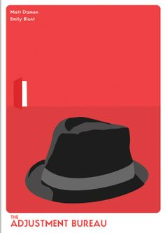 The Adjustment Bureau (2011) - Minimal Movie Poster by Luke Dacey ~ #minimalmovieposter #alternativemovieposter #lukedacey