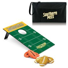 Southern Mississippi Golden Eagles Bean Bag Toss.  Comes with heavy-duty black polyester carrying tote. Visit SportsFansPlus.com for Details.