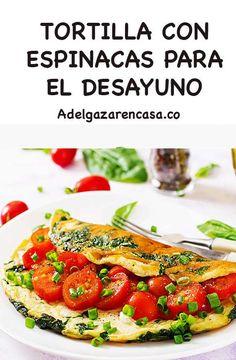 5 recetas de almuerzos para adelgazar - Adelgazar en casa Vegan Vegetarian, Vegetarian Recipes, Healthy Recipes, Brunch, Keto, Meals, Cooking, Breakfast, Kitchen