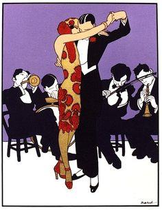 Art Deco Art by Ernesto García Cabral pics) ♥♥♥ Art Deco Illustration, Illustrations, Art Deco Posters, Vintage Posters, Tango Art, Art Et Architecture, Save The Last Dance, Seasonal Image, People Dancing