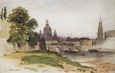 Ivan Shishkin - Dresden Bridge of August, 1862