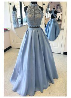 Prom Dresses Long Prom Dress Prom Dresses Lace Two Pieces Prom Dresses Prom Dresses Blue Prom Dresses 2019 Prom Dresses Two Piece, Backless Prom Dresses, A Line Prom Dresses, Dress Prom, Homecoming Dresses, Prom Gowns, Evening Gowns, Party Dress, Prom Party