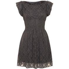 Mela Loves London Mela Grey Lace Dress (1.790 RUB) ❤ liked on Polyvore featuring dresses, vestidos, grey, mela loves london, lacy dress, grey dress, gray lace dress and grey lace dresses