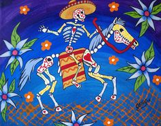 Day Of The Dead Horse and Rider 8x10 Art Print by JEllisonArt, $13.00
