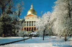 State Capitol Building, Boston, Massachusetts postcard