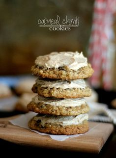 Oatmeal Chocolate Chunk Cookies with Cinnamon Buttercream.