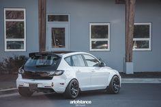 Monster 3 - Turbocharged Mazda 3 | Art of Stance - Westcoast Cars + Photography